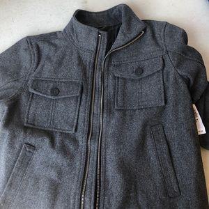 Grey old navy new never wore boy size medium coat